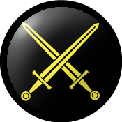 SCA Marshal Badge: Sable, two swords in saltire Or